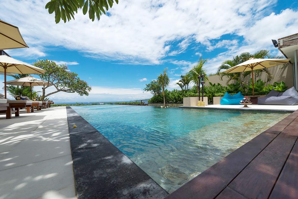 Swimming pool at a luxury Bali Holiday Villa By Eats & Retreats