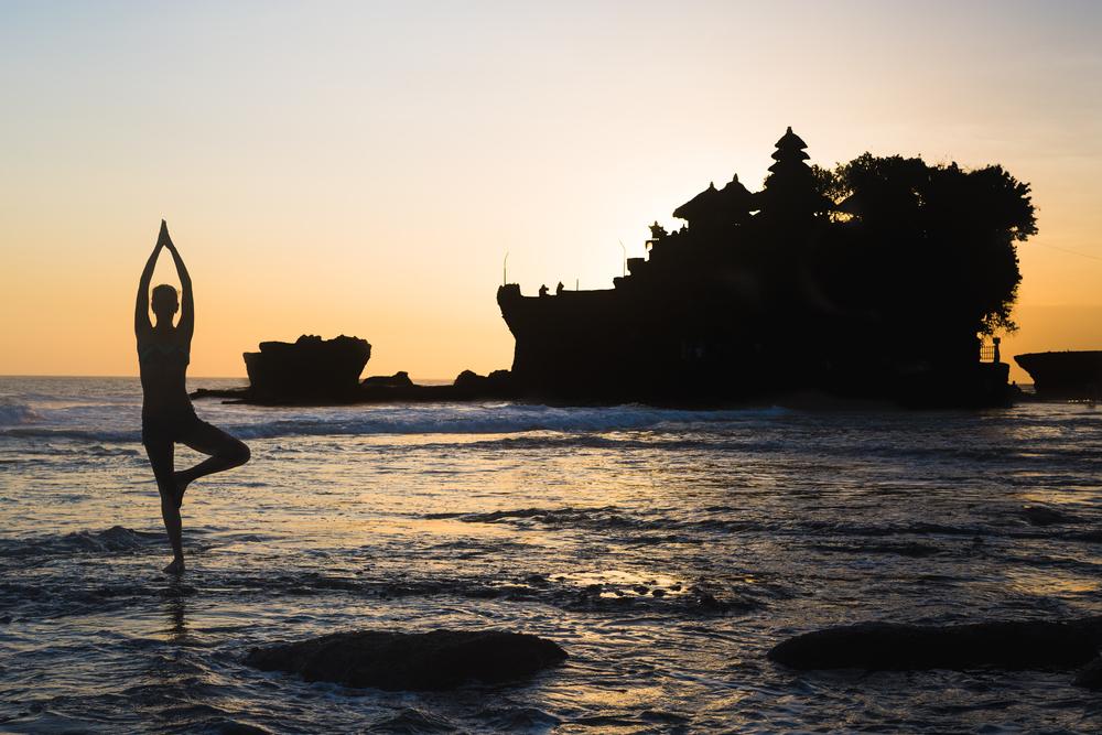 Yoga is popular in Bali