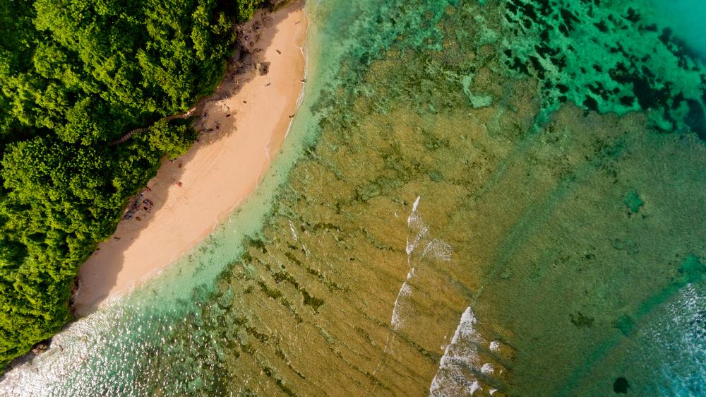 Green Bowl beach in Uluwatu, Bali