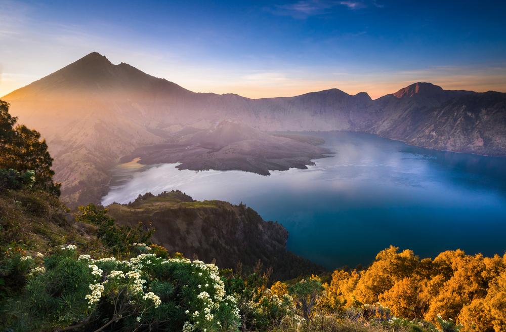 view of Gunung Rinjani Mountain, Lombok Indonesia