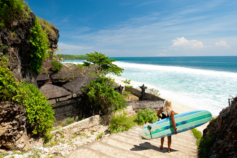 Bali is a must-visit for surfing fans