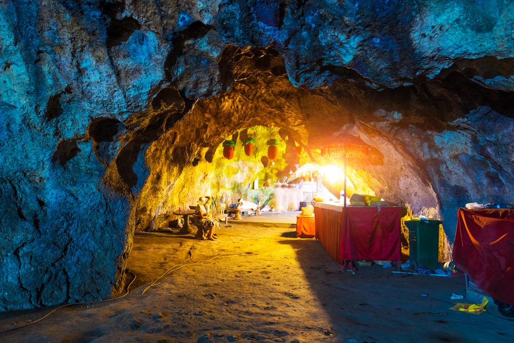 Goa Giri Putri is a unique temple in Nusa Penida