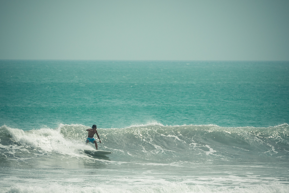 Kuta Beach is the perfect place for beginners to get in some practice.