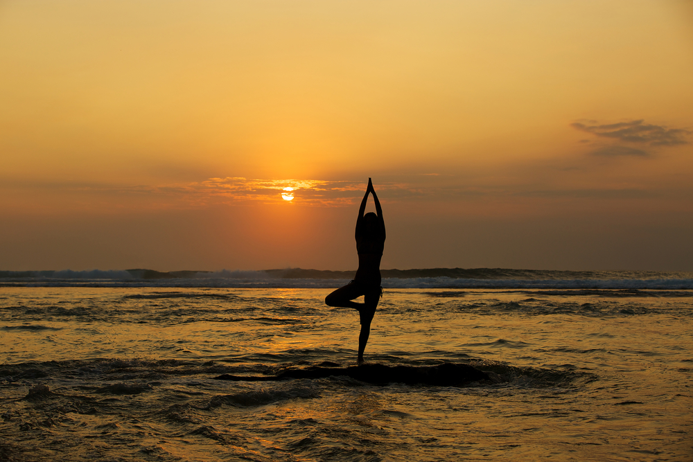 The seaside town of Canggu is a great place to practice yoga.