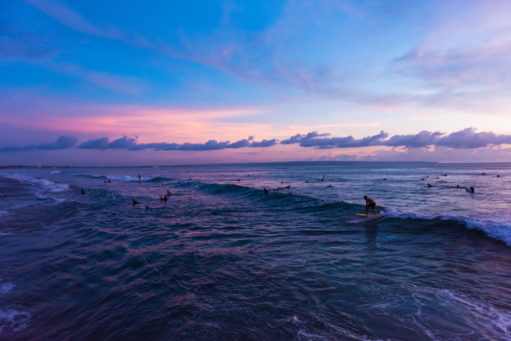 Old Man's is a popular surf spot in Canggu