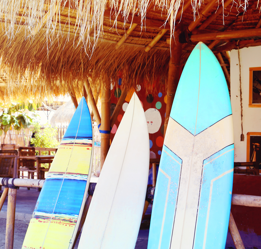 There are lots of places to rent boards and take surf lessons in Canggu