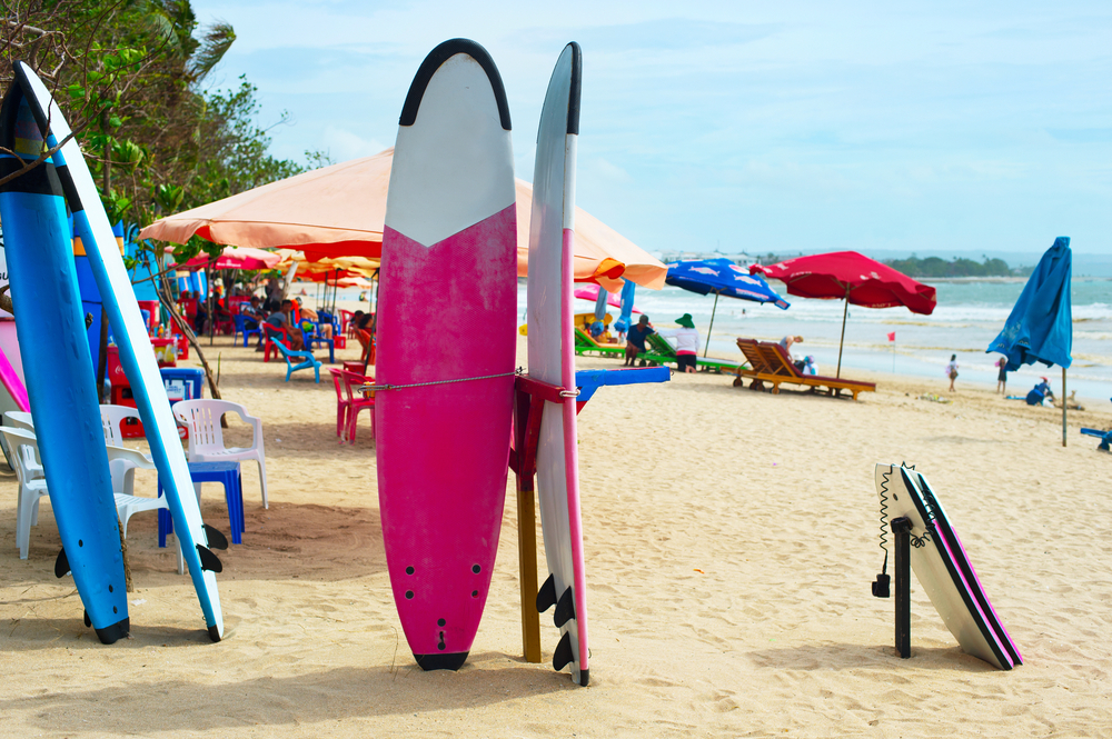 Seminyak and Kuta are the best places in Bali to learn to surf.