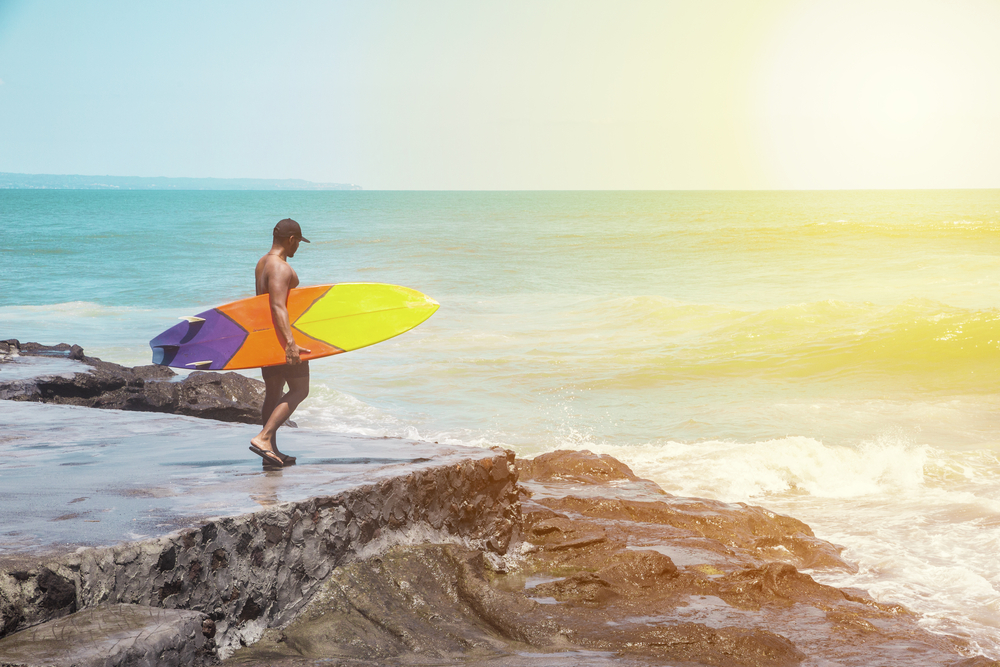 Canggu is the best place in Bali for intermediate surfers