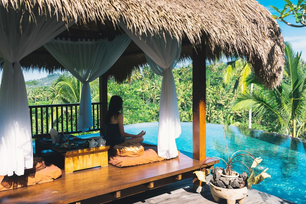 Ubud has more yoga retreats than anywhere else in Bali