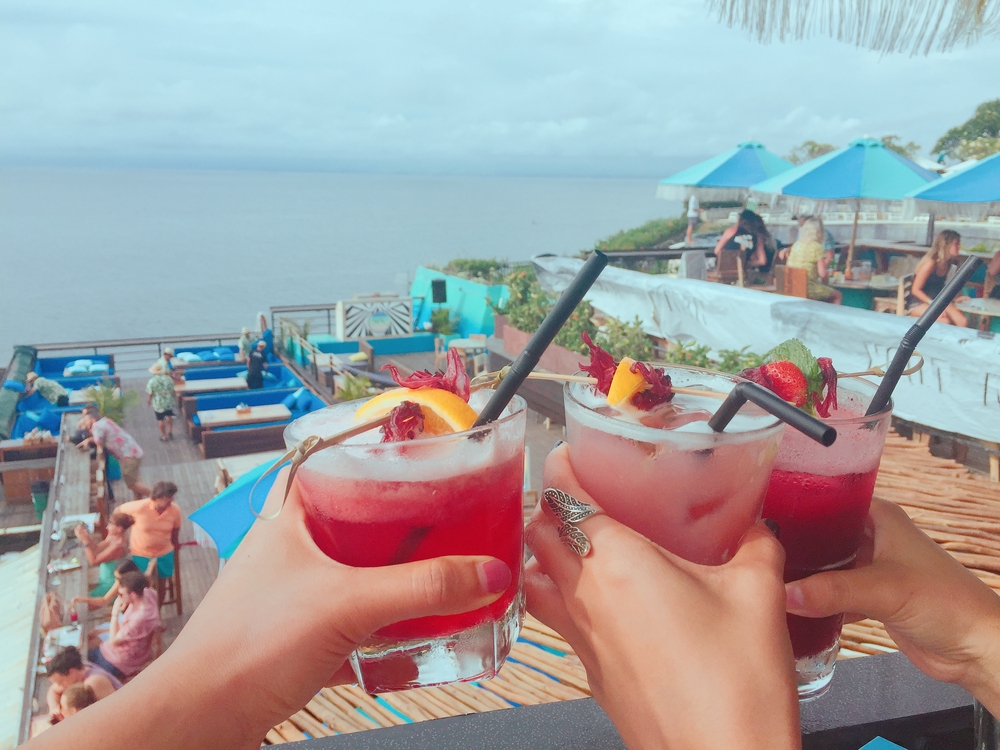 Bring in the New Year with cocktails on the beach in Bali.