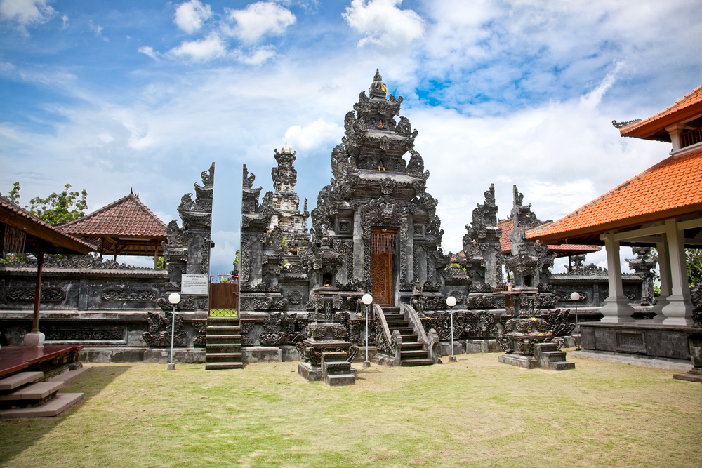 Check out the Puja Mandala holy site in Nusa Dua.