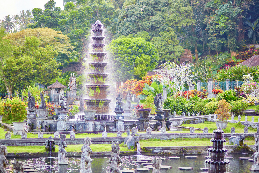 The Tirta Gangga water palace is a must-visit in Bali.