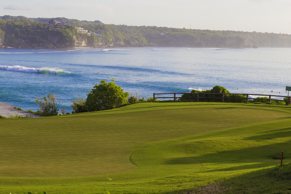 Uluwatu is a beautiful setting for a round of golf.
