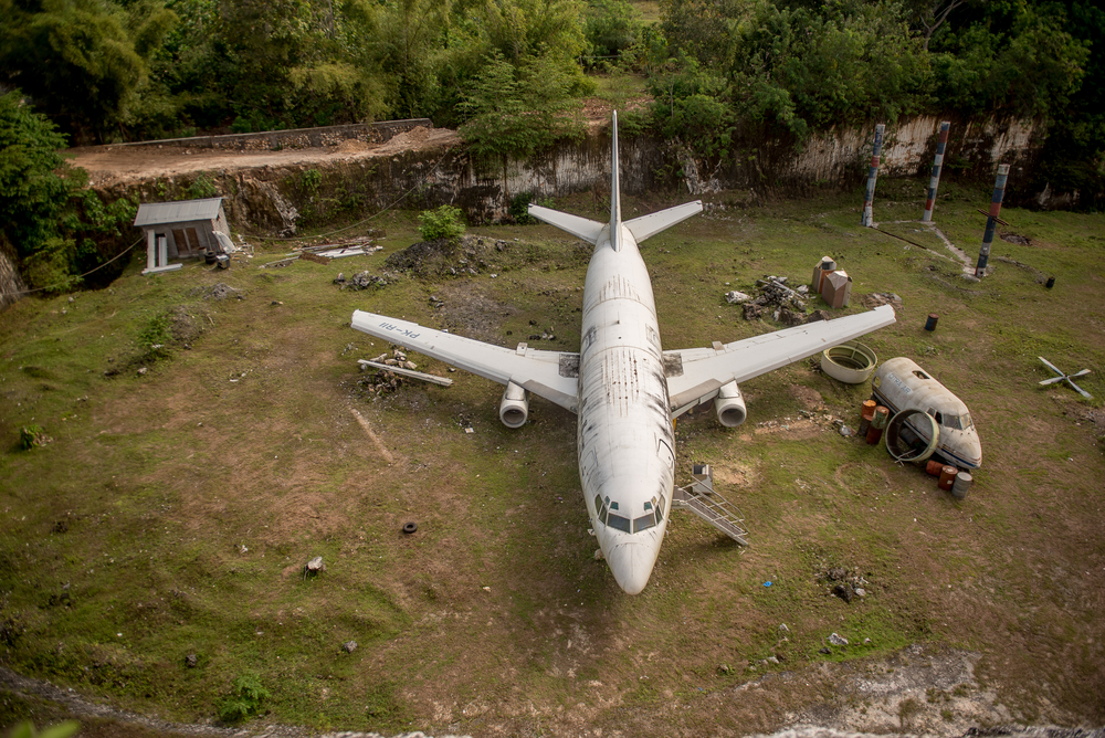 Seek out the abandoned airplane for a cool, off-the-beaten-path experience near Nusa Dua.