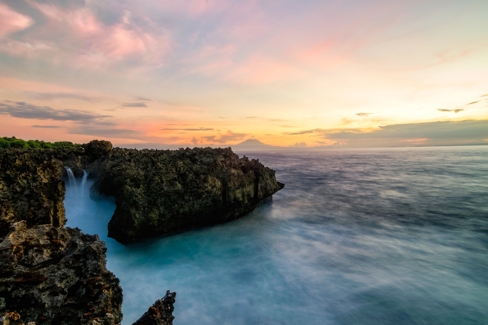 Nusa Dua is known for its beautiful ocean views.