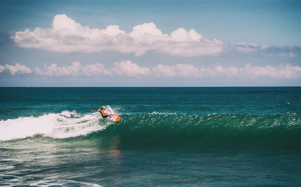Canggu has a strong ocean swell throughout the year.