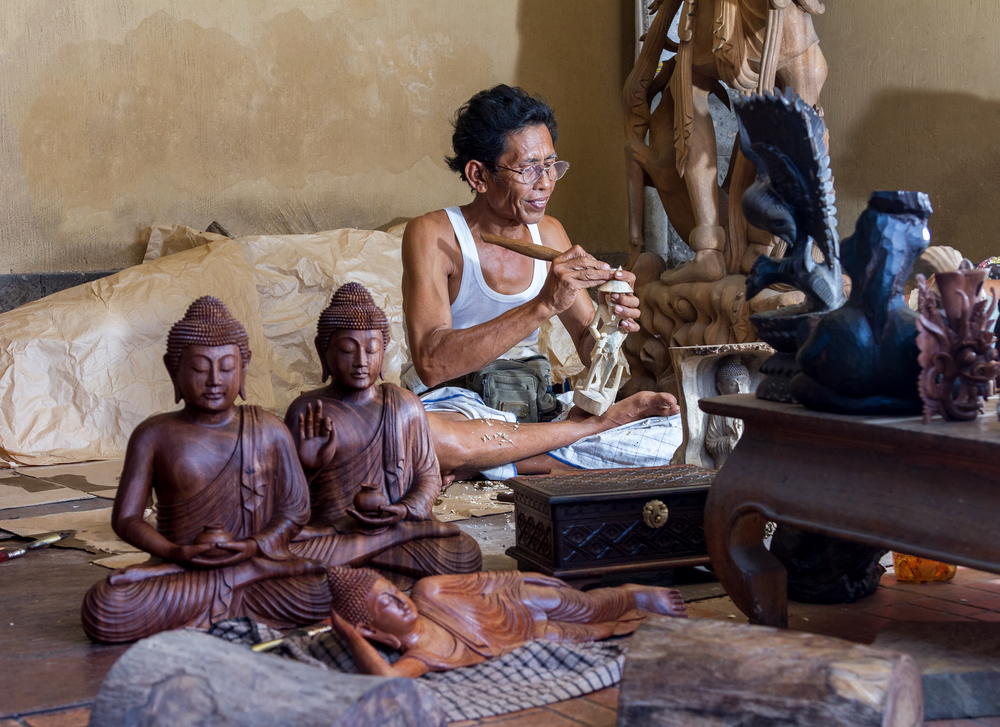 Bali is known for its exquisite wood carvings.