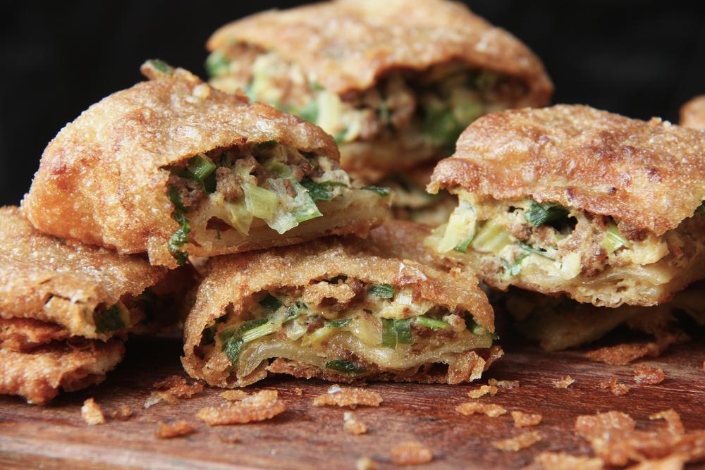 Martabak can be enjoyed sweet or savoury.