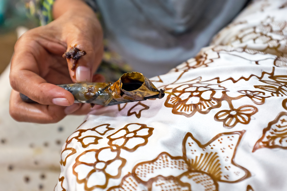 Buy some traditional Batik fabric during your trip to Bali.