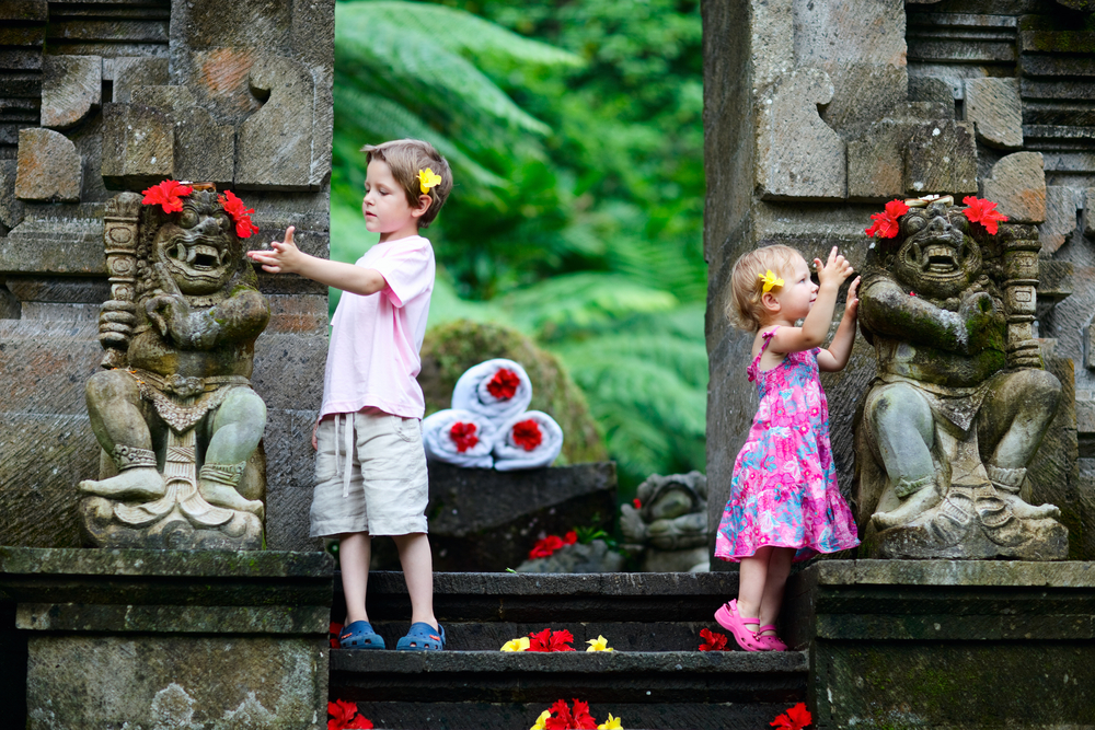 Bali has lots to offer families with children.