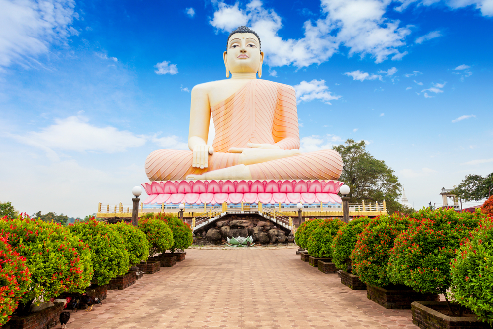 Kande Vihara is home to the largest seated Buddha statue in the world.